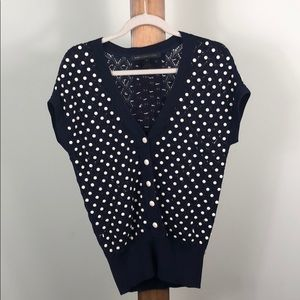 Marc By Marc jacobs beaded short sleeve cardigan